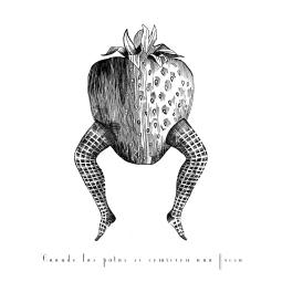 Cuando las patas se comieron una fresa